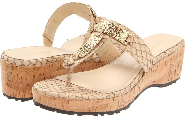 Taryn Rose Nelly (Beige Fish Skin) - Footwear