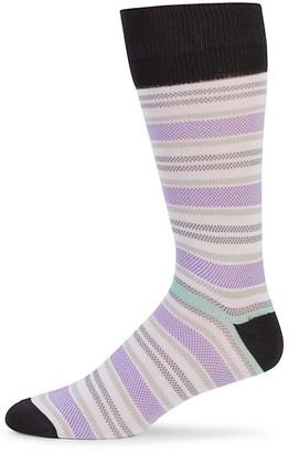 Saks Fifth Avenue Birds Eye Striped Socks