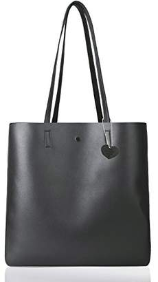 The Lovely Tote Co. Women's Metallic Reversible Top Handle Tote Shoulder Bag