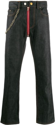 Zilver Mid-Rise Chain Detailed Jeans