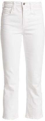 L'Agence Nadia High-Rise Crop Straight-Leg Jeans