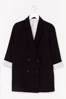 Nasty Gal Womens If It Suits You Double Breasted Blazer - Black - L