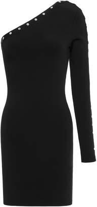 Alexander Wang One-shoulder Studded Stretch-knit Mini Dress