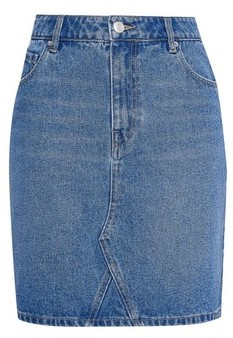 Dorothy Perkins Womens Indigo Organic Denim Mini Skirt