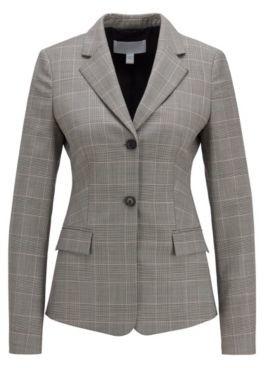 HUGO BOSS Glen Check Regular Fit Jacket In Italian Virgin Wool - Patterned