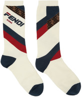 Fendi White Mania Socks