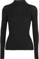 Markus Lupfer Rosie Metallic Ribbed-knit Sweater - Black