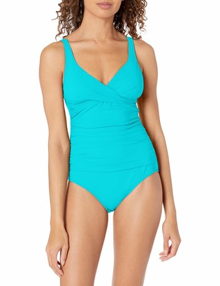 Gottex Women's Surplice Bust V-Neck One Piece Swimsuit