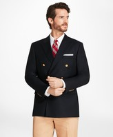 Brooks Brothers Country Club Regent Fit Saxxon Wool Double-Breasted Blazer