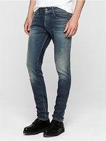 Calvin Klein Mens Skinny Faded Jeans