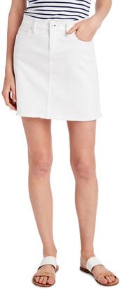 Vineyard Vines Raw Hem White Jean Skirt