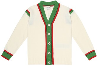 Gucci Kids Wool-jersey cardigan