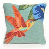 """Liora Manne Frontporch Hummingbird 18"""" Pillow - Sky"""