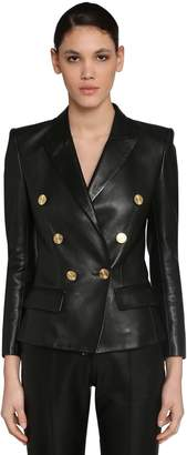 Alexandre Vauthier Double Breast Napa Leather Blazer