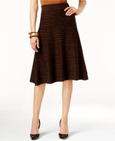Alfani Knit-Pattern Fit & Flare Sweater Skirt, Only at Macy's
