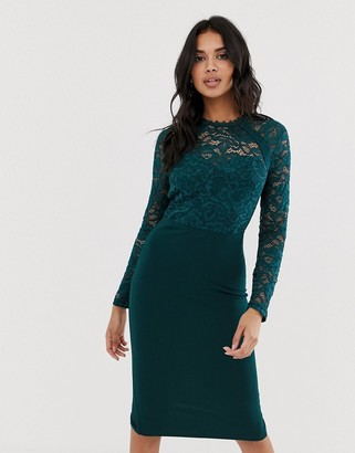 Girl In Mind lace long sleeve dress