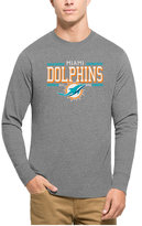 '47 Men's Miami Dolphins Double Option Splitter Long-Sleeve T-Shirt
