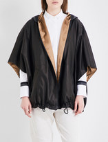 Brunello Cucinelli Chain-embellished leather cape