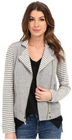 Lucky Brand Mixed Stripe Moto Jacket