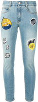 Stella McCartney patch skinny jeans - women - Cotton/Polyester/Spandex/Elastane - 26