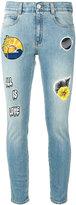 Stella McCartney patch skinny jeans