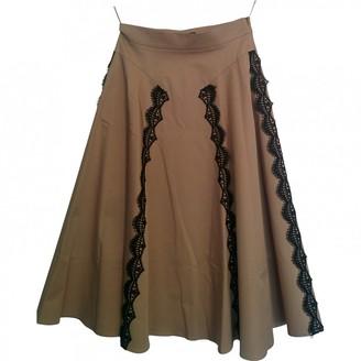 Pinko Camel Cotton Skirt for Women