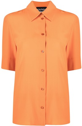 Boutique Moschino Half-Length Sleeve Collared Shirt