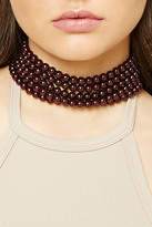 Forever 21 FOREVER 21+ Faux Pearl Layered Choker