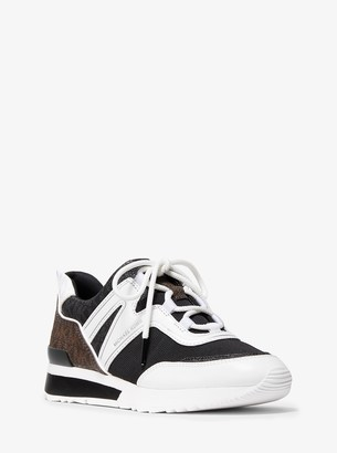 MICHAEL Michael Kors Pippin Tri-Color Logo and Canvas Trainer