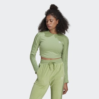 adidas LOUNGEWEAR Cropped Long Sleeve Sweater