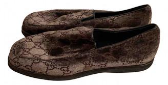 Gucci Brown Velvet Flats
