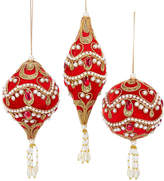 Kurt Adler Red & Gold 3Pc Ball, Onion, Finial Set