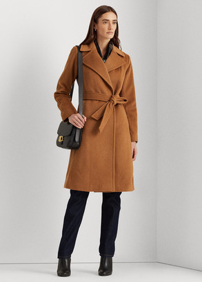Ralph Lauren Wool-Blend Wrap Coat