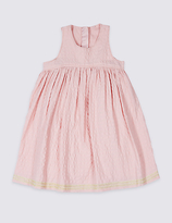 Marks and Spencer Pure Cotton Embroidered Hem Dress (3 Months - 5 Years)