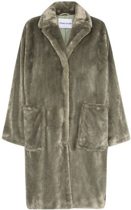 Stand Studio Reyna faux fur coat