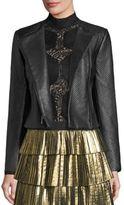 BCBGMAXAZRIA Textured Leather Jacket