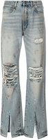 R 13 ripped boyfriend jeans