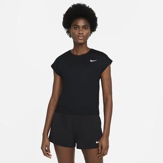 Nike Women's Short-Sleeve Tennis Top NikeCourt Dri-FIT Victory