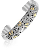 Ice 18K Yellow Gold & Sterling Silver Slim Cuff Bracelet with Dragonfly Motif
