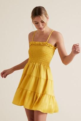 Seed Heritage Textured Stripe Mini Dress