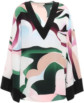 Emilio Pucci Printed Silk Crepe De Chine Top