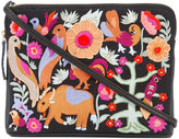 Lizzie Fortunato Folk Safari clutch - women - Leather - One Size
