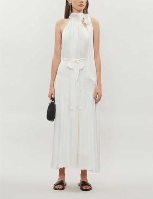 Zimmermann Sleeveless silk-crepe de chine midi dress