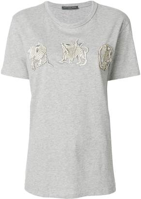 Alexander McQueen sequinned creature appliqués T-shirt