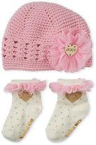 Juicy Couture Newborn/Infant Girls) Light Pink Hat & Socks Set