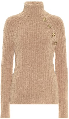 Balmain Wool-blend turtleneck sweater