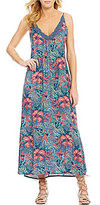 Roxy Optic Floral Printed V-Neck Maxi Dress