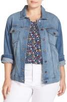 KUT from the Kloth Plus Size Women's Helena Distressed Denim Jacket