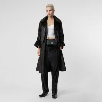 Burberry Waistcoat Detail Faux Fur Coat
