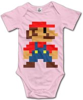 LALayton Manus LALayton Mario Pixeles Funny For Climbing Clothes Infant Rompers
